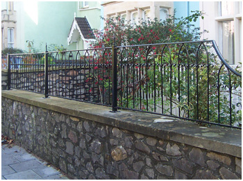 Arched railing
